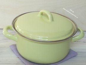 Kastrůlek zelený s pokličkou 1 litr