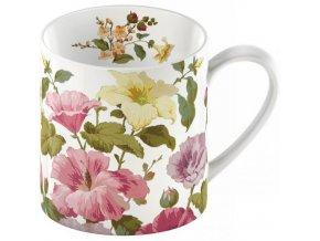 Porcelánový hrnek s květy ibišku