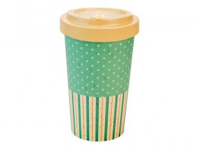 woodway opakovane pouzitelny kelimek na kavu z prirodniho materialu zelenadomacnost retro dots