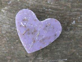 Mýdlo ve tvaru srdce s vůní levandule