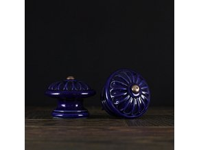 Knopka velká kobalt vzor č.4