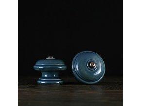 Knopka modrá velká hladká