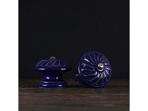 Knopka kobalt velká vzor větrník