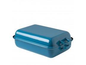 Smaltovaný pekáč s poklopem modrý
