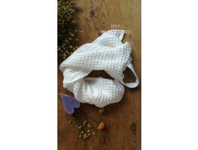 Vaflový ručník bílý