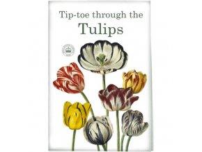 Utěrka s potiskem - tulipány