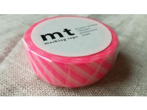 mt washi páska stripe shocking pink