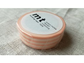 mt washi páska  border peach cream