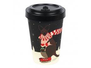 woodway opakovane pouzitelny kelimek na kavu z prirodniho materialu bambus zelenadomacnost kangaroo (1)