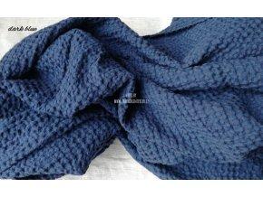 Lněná látka dark blue
