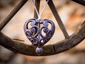 srdce levandulové