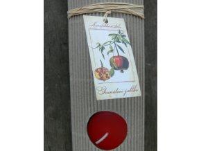 Čajová svíčka dárková - granátové jablko