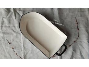 Litinový pekáč bílý velký