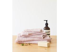 Powder Waffle Towel by Linen Tales