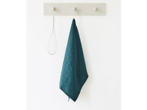 Deep Water Kitchen Towel by Linen Tales