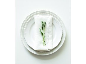 White Napkins with Fringes In