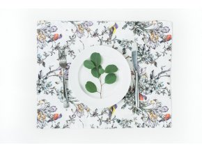 Birds Print Placemat by Linen Tales (1)