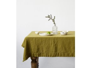 Moss Green Tablecloth In