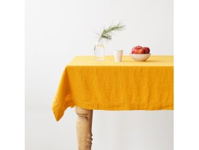 Mustard Tablecloth by Linen Tales