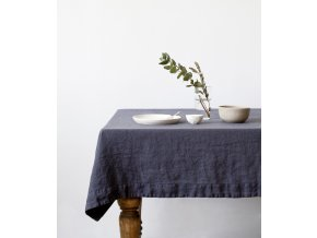 Dark Grey Tablecloth In