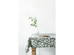 Eucalyptus on natural Tablecloth LInen Tales