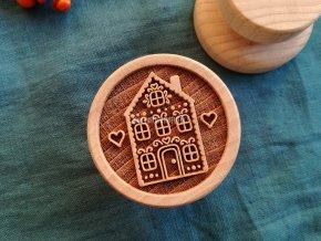 Dřevěné razítko větší domek