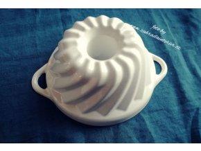 Litinová forma na bábovku malá bílá