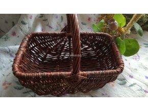 Košík zahradní proutěný