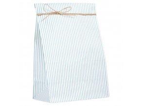 Papírový sáček modrý proužek