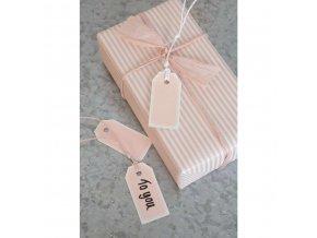 Balicí papír růžový proužek