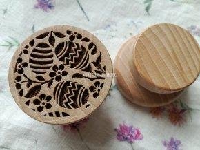 Dřevěné razítko větší velikonoční vajíčka