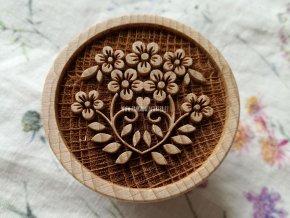 Dřevěné razítko větší květiny