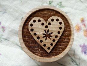 Dřevěné razítko větší srdce