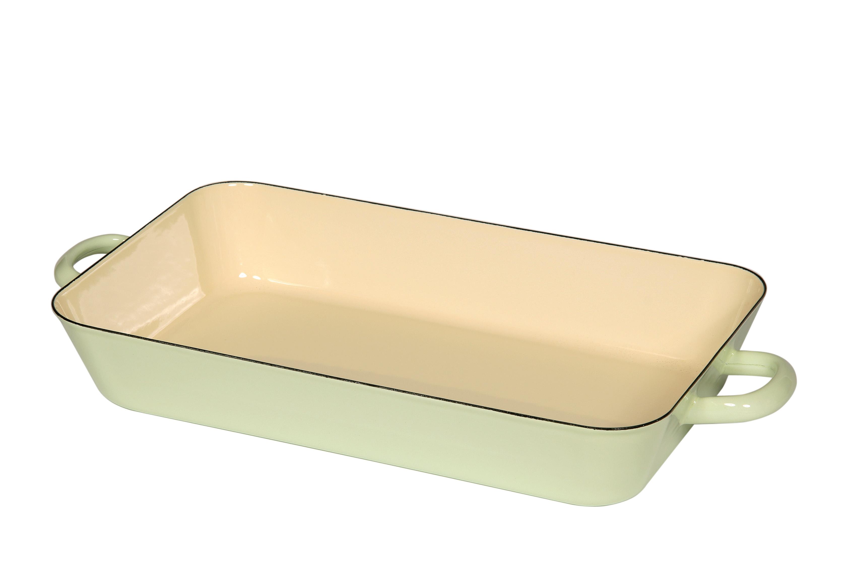 Smaltovaný pekáč zelený 22x37 cm