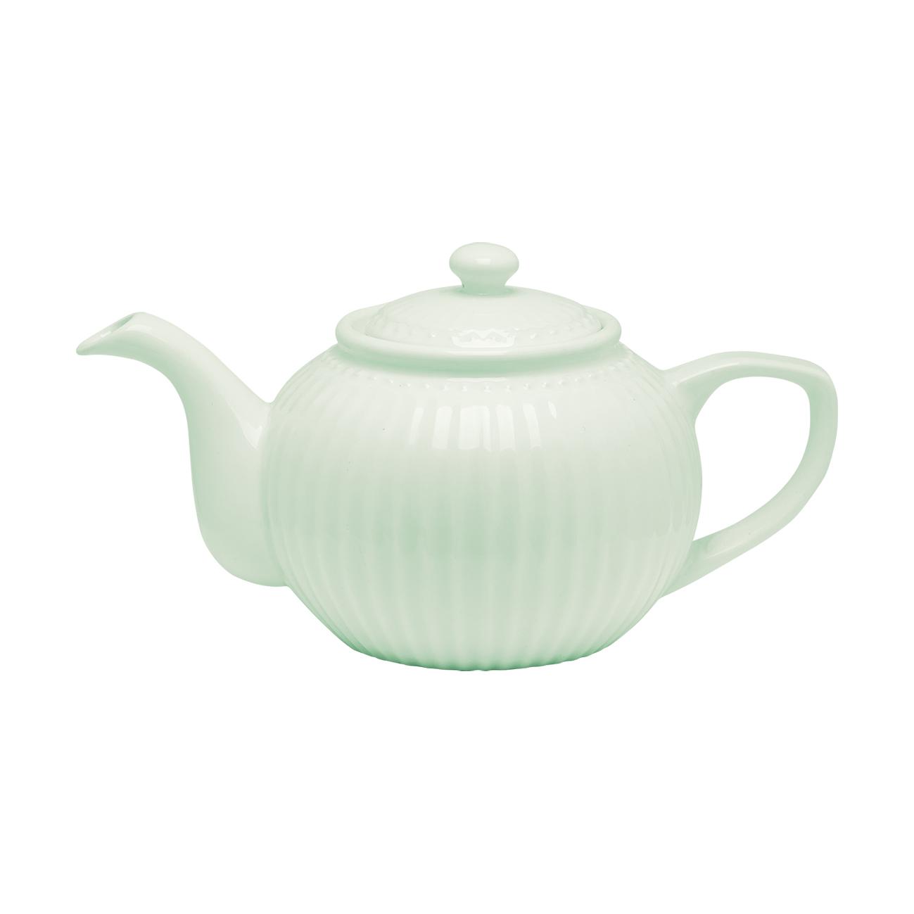 Porcelánová konvice zelená objem 1 litr