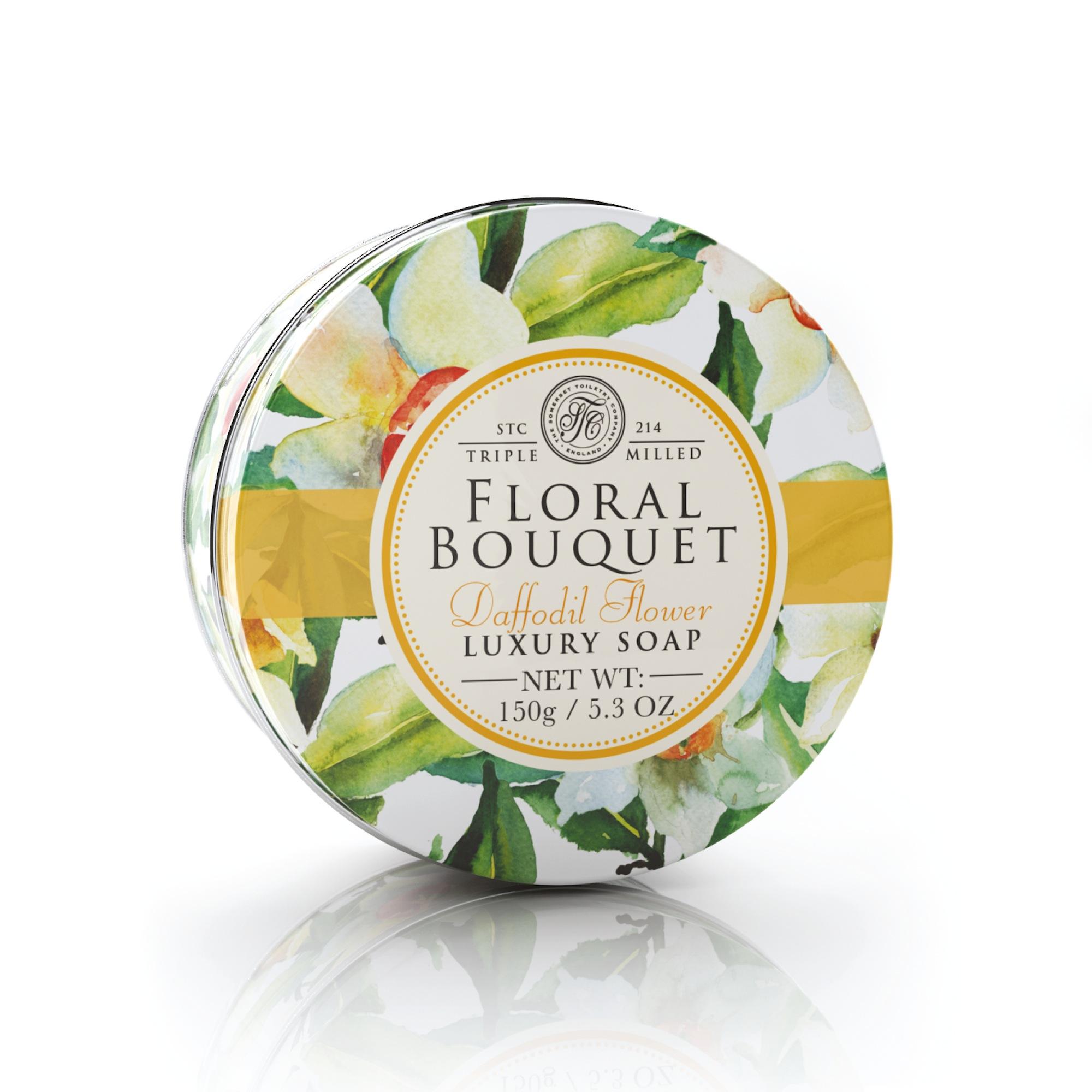Mýdlo v plechu Narcis (Daffodil Flower) 150 g