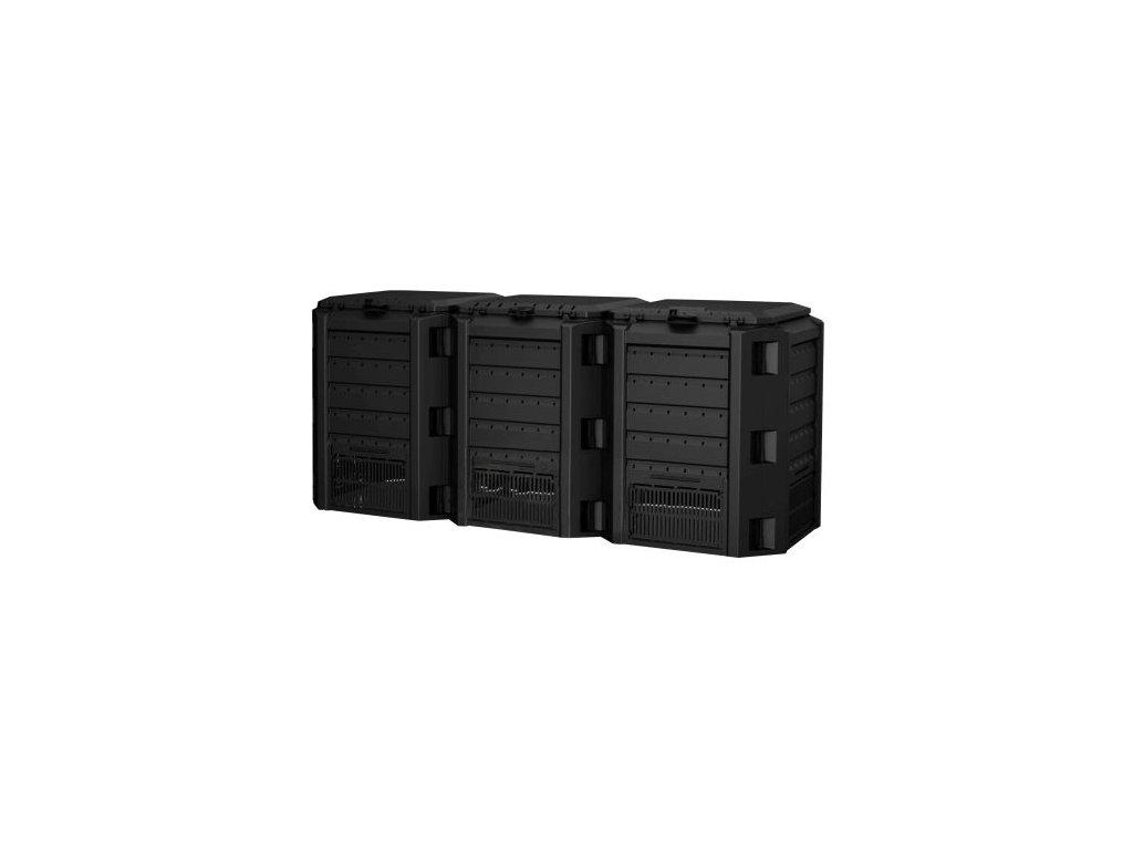 Kompostér 1200 l COMPOGREEN (3 x 400 l) černý