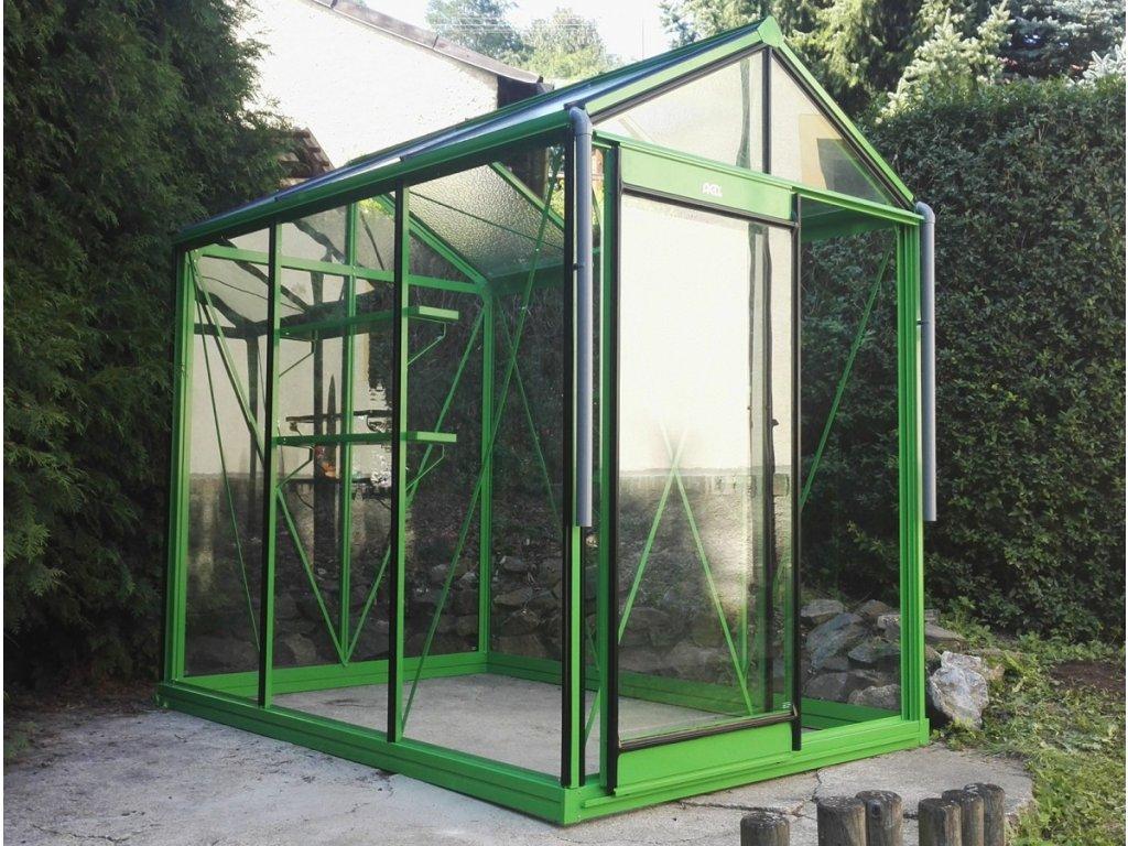 Zahradní skleník Piccolo 2,2 x 1,6 m RAL dle přání  + 5 tyčí na rajčata
