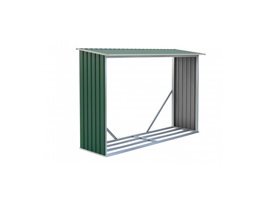 Přístřešek na dřevo  G21 WOH181 - 242 x 75 cm, zelený