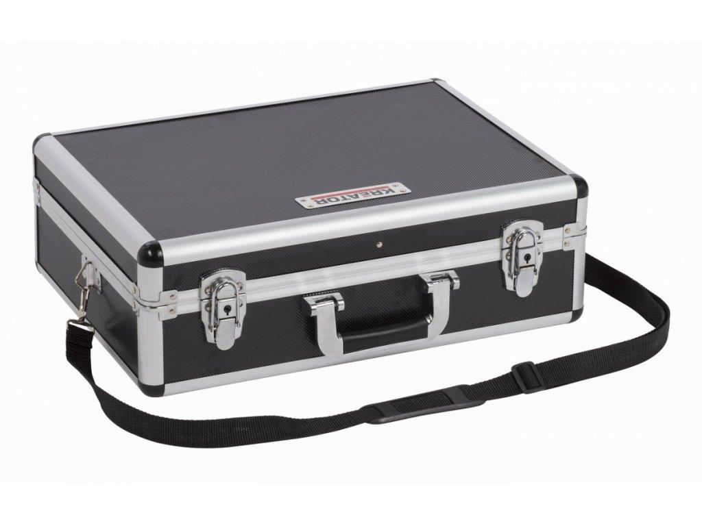 Hliníkový kufr KREATOR 460x330x155mm černý