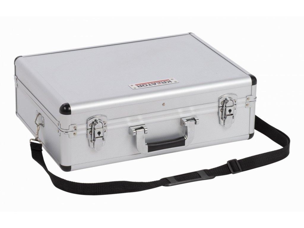 Hliníkový kufr KREATOR 460x330x155mm stříbrný