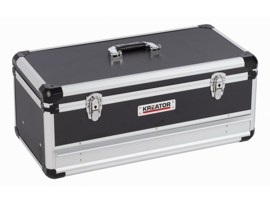 Hliníkový kufr KREATOR 620x300x255mm 1 zásuvka