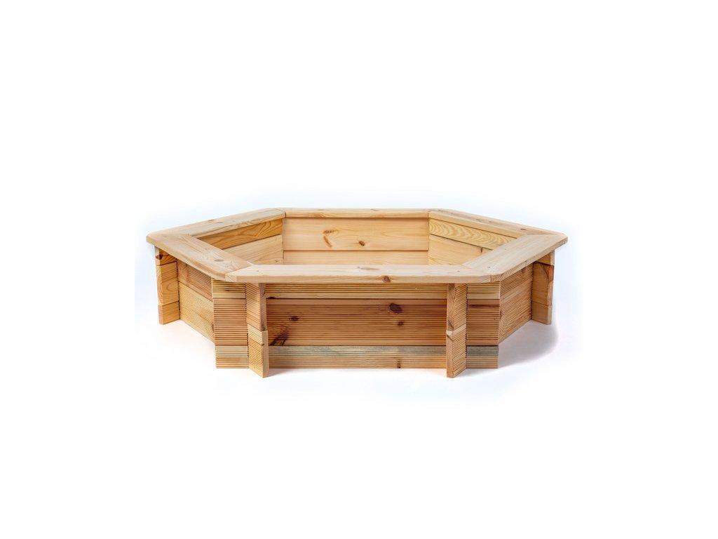 Pískoviště dřevěné šestihranné