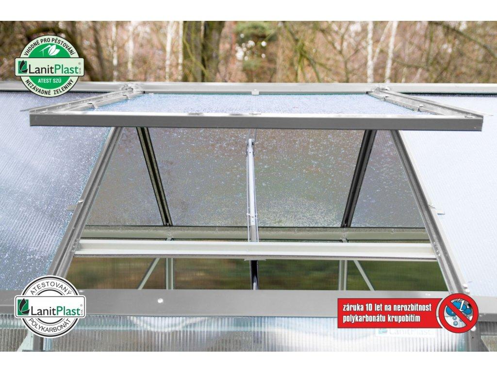 Zahradní skleník Lanitplast DODO BIG 8x10 4 mm šedý