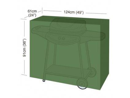 "plachta krycí na gril CLASSIC ""M"" 124 x 61 x 91 cm, PE 90g/m2"