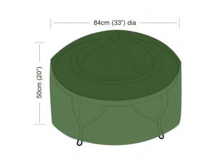 """plachta krycí na přenosné ohniště """"L"""" pr.84 x 50 cm, PE 90g/m2"""
