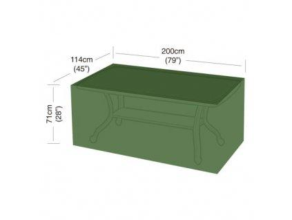 plachta krycí na obdélníkový 8místný stůl 200 x 114 x 71 cm, PE 90g/m2