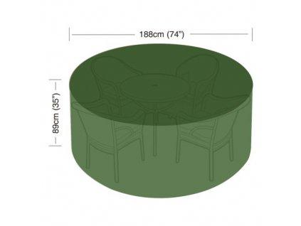 plachta krycí na set 4-6 židlí+kul.stůl pr.188 x 89 cm PE 90g/m2