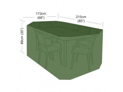 plachta krycí na set 4 židlí+obdél.stůl 215 x 173 x 89 cm, PE 90g/m2