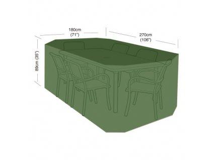 plachta krycí na set 6 židlí+obdél.stůl 270 x 180 x 89 cm, PE 90g/m2